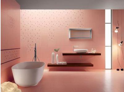 Nội thất phòng tắm màu hồng