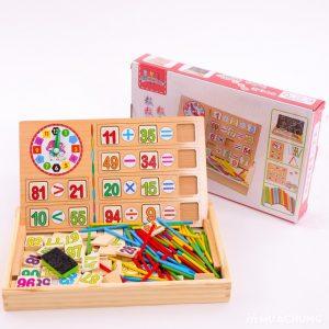 Bảng gỗ 2 mặt đa năng dạy bé học toán