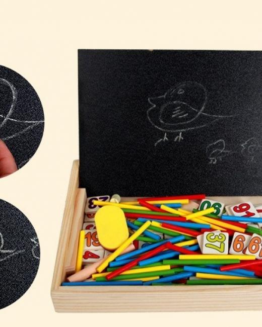 Bảng gỗ 2 mặt đa năng dạy bé học toán hiệu quả
