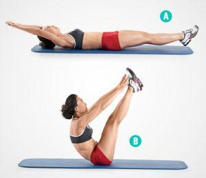 Gập bụng là động tác giúp hoạt cơ bụng phải hoạt động tối đa