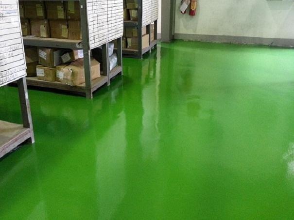 Thi công sơn Epoxy sàn nhà xưởng