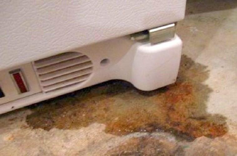 Dấu hiệu cho thấy tủ lạnh bị rỉ nước