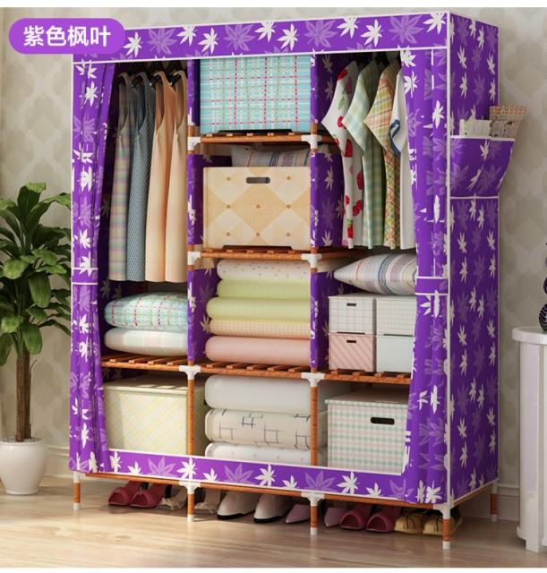 Tủ vải bằng khung gỗ chắc chắn