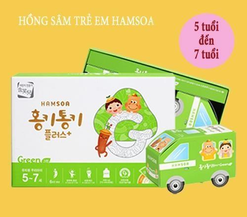 Hồng sâm Hamsoa Hàn Quốc dành cho bé 5-7 tuổi được sử dụng phổ biến hiện nay