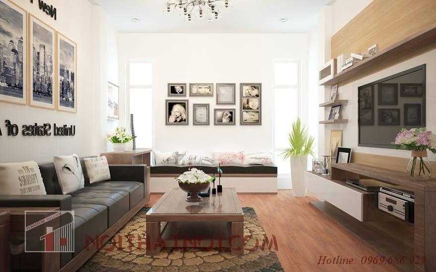 Bàn ghế sofa gỗ tự nhiên đẹp cao cấp
