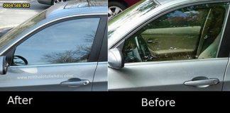 Trước và sau khi dán phim cách nhiệt
