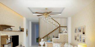 Thiết kế nội thất phòng khách hiện đại với sofa gỗ đẹp
