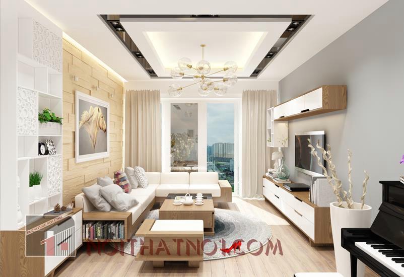 Thiết kế nội thất phòng khách hiện đại với sofa gỗ đẹpThiết kế nội thất phòng khách hiện đại với sofa gỗ đẹp