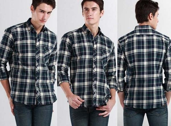 Áo sơ mi nam thả ngoài quần jean - phong cách trẻ trung, năng động