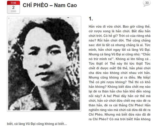 Chí Phèo và Nam Cao