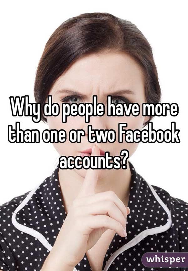 Một tài khoản hay nhiều tài khoản Facebook?